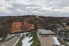 Vilnius το ανώτερο Castle στο ηλιοβασίλεμα Στοκ Εικόνα