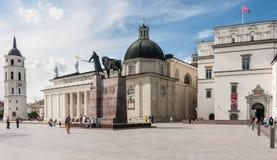vilnius Квадрат собора Литва Стоковая Фотография RF