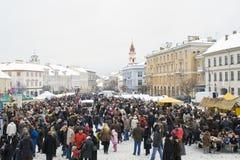 Vilnius 16 Φεβρουαρίου Στοκ Εικόνα