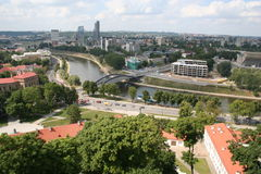 Vilnius. Capital of Lithuania, view form the Gediminas Tower Stock Image