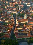 Vilnius. View from the hot air balloon royalty free stock photography