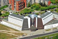 Κεφάλαιο πόλεων Vilnius της εναέριας άποψης της Λιθουανίας Στοκ Εικόνες