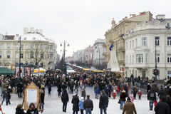 VILNIUS- 6. MÄRZ: Vilnius, Kaziukas lizenzfreie stockbilder