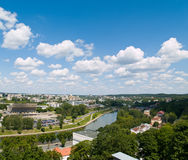 Vilnius Aerial. An aerial view of Vilnius, capital of Lithuania Royalty Free Stock Images