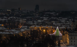 Vilnius Aerial panorama of the Old Town Stock Photography