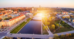 Vilnius aerial and sunset Stock Image