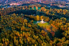 Vilnius aerial royalty free stock photography