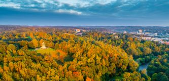 Vilnius aerial royalty free stock images