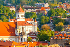Vilnius. Aerial view of the city. View of the historic center of Vilnius from Gediminas Hill. Lithuania royalty free stock photos