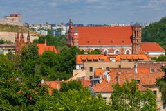 Vilnius. Aerial view of the city. stock photography
