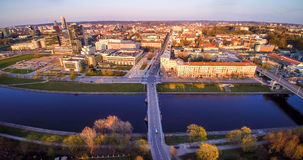 Vilnius aerial view royalty free stock photography