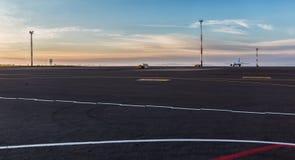 Vilnius airport at dawn. Royalty Free Stock Photos