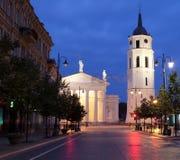 Vilnius alla notte Immagine Stock