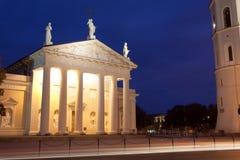 Vilnius alla notte Fotografia Stock Libera da Diritti