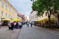 vilnius Alte Stadt, Pilies-Straße Lizenzfreie Stockfotos