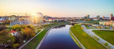 Vilnius-Antenne Lizenzfreies Stockfoto