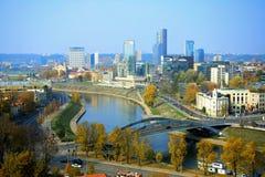 Vilnius autumn panorama from Gediminas castle tower Royalty Free Stock Image