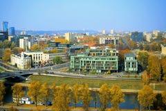 Vilnius autumn panorama from Gediminas castle tower Royalty Free Stock Photos