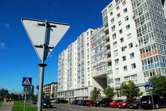 Vilnius Baltrusaicio street at Pasilaiciai Royalty Free Stock Images