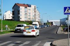 Vilnius Baltrusaicio ulica przy Pasilaiciai na Kwietniu 26, 2014 Obraz Stock