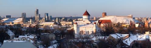 Vilnius bij de winter Stock Foto's