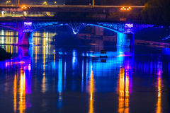 Vilnius bridge at night Stock Photo
