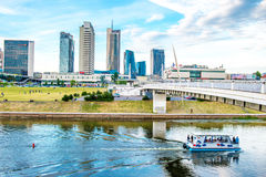 Vilnius buildings and river Royalty Free Stock Photos