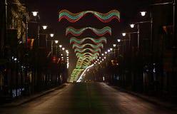 Vilnius - capital de Lituânia na noite fotografia de stock royalty free