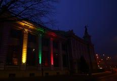 Vilnius - capital de Lituânia na noite foto de stock