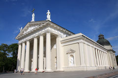 Vilnius Cathedral. On the sunny summer day Royalty Free Stock Images
