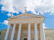 Vilnius Cathedral. A view of the Vilnius Cathedral in Vilnius, Lithuania Stock Photo