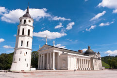 Vilnius Cathedral at a Beautiful Summer Day. Vilnius Cathedral Square at a Beautiful Summer Day Royalty Free Stock Image