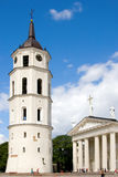 Vilnius Cathedral and Belfry Tower. The heart of Lithuanian capital Royalty Free Stock Photos