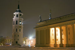 Vilnius Cathedral and Belfry Tower Royalty Free Stock Photo