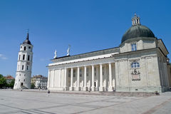 Vilnius Cathedral and belfry tower Stock Photography