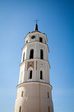 Vilnius Cathedral Bell Tower over clear blue sky Royalty Free Stock Images