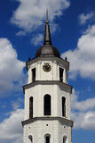 Vilnius Cathedral Clock Tower Stock Image