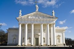 Vilnius Cathedral. Front view of Vilnius cathedral Royalty Free Stock Photo