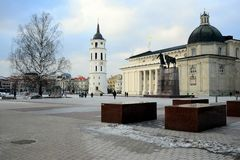 Vilnius Cathedral is the heart of Lithuanian capital Royalty Free Stock Image