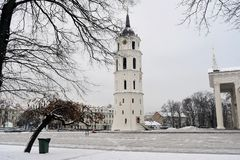 Vilnius Cathedral is the heart of Lithuanian capital Royalty Free Stock Photography