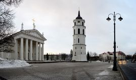 Vilnius Cathedral is the heart of Lithuanian capital Royalty Free Stock Images