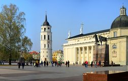 Vilnius cathedral is main church of Lithuania Royalty Free Stock Images
