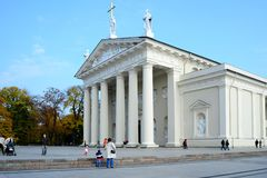 Vilnius cathedral is main church of Lithuania Stock Images