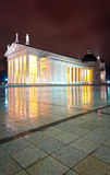 Vilnius cathedral at night. Lithuania, Europe. Royalty Free Stock Photos