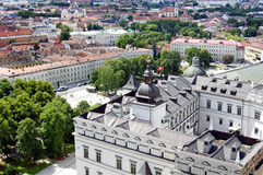 Vilnius Cathedral and old town view Stock Image