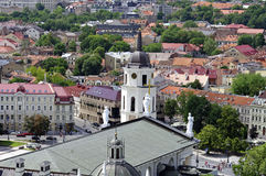 Vilnius Cathedral and old town view Stock Images