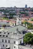 Vilnius Cathedral and old town view Royalty Free Stock Photos