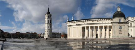 Vilnius cathedral place Stock Image