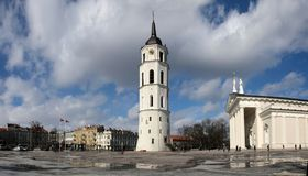 Vilnius cathedral place Stock Photography