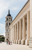 Vilnius. Cathedral Square. Cathedral and bell tower Royalty Free Stock Photography